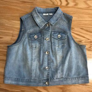 Cato denim studded vest size 14/16W